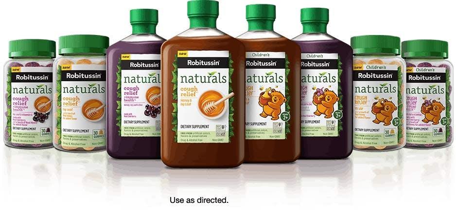 Robitussin Naturals brands cluster
