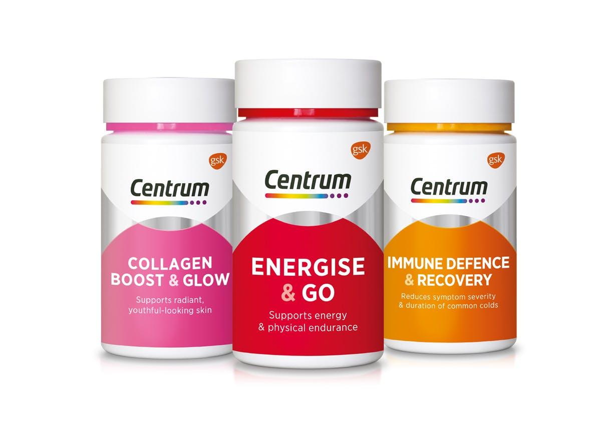 Centrum Range 50s Energise Collagen Immune