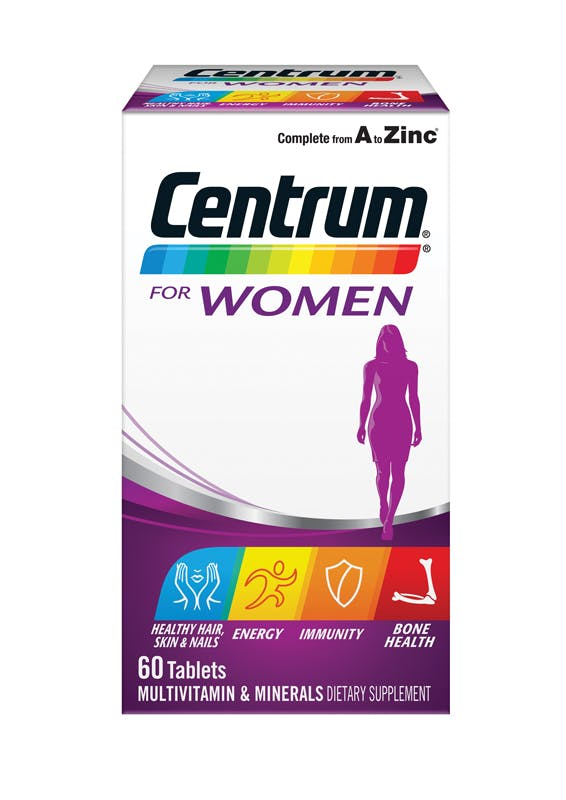 Box of Centrum for Women Multivitamins (60 tablets).