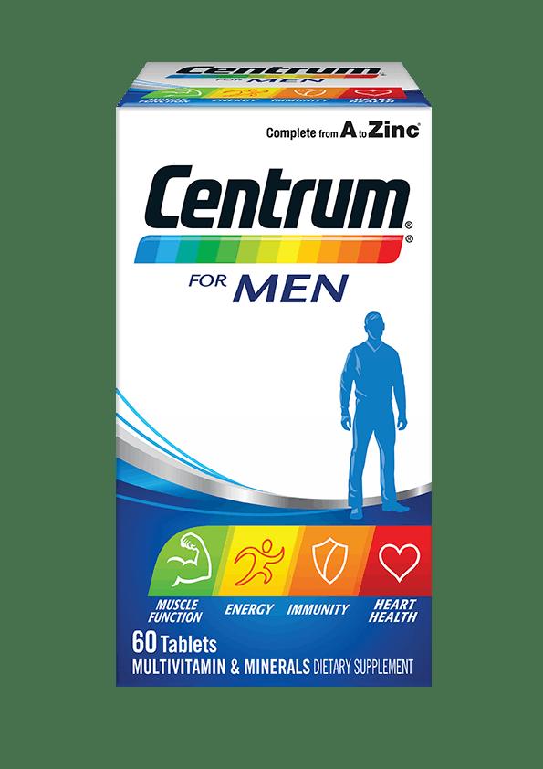 Box of Centrum for Men Multivitamins (60 tablets).
