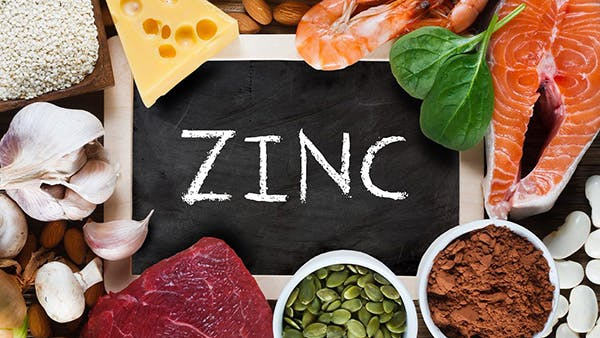 Salmon, cheese, spinach, mushrooms, almonds, and other foods high in zinc