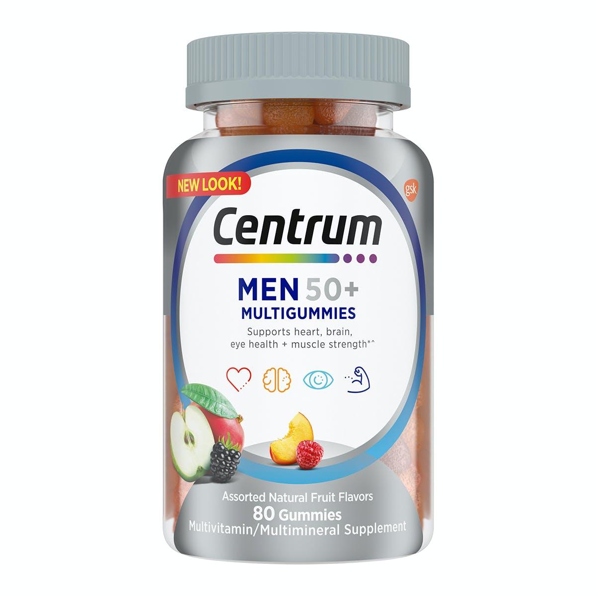 Bottle of Centrum Multigummies Men 50plus