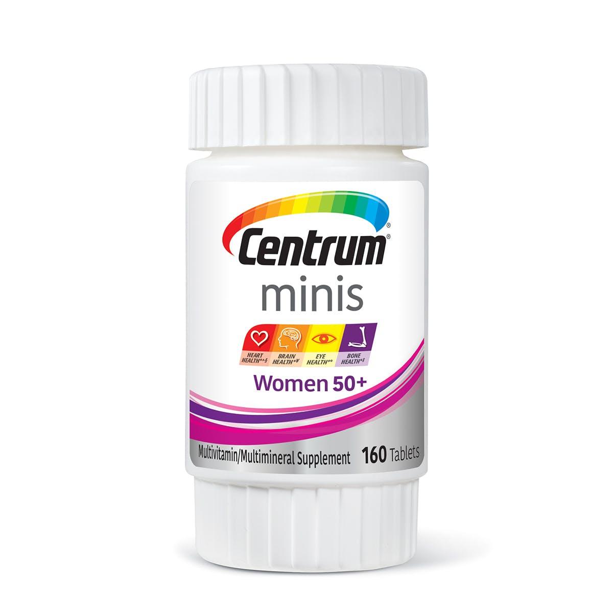 Bottle of Centrum Minis Women 50plus multivitamins