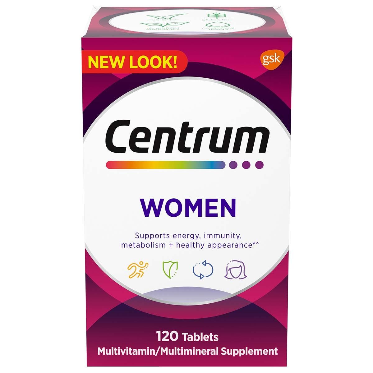 Centrum Women multivitamins - previous packadging