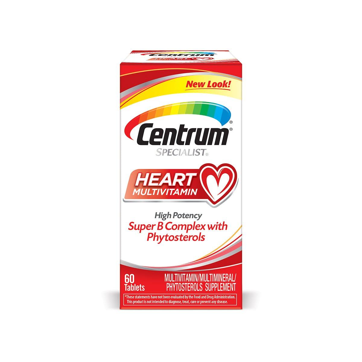 Box of centrum specialist heart multivitamins