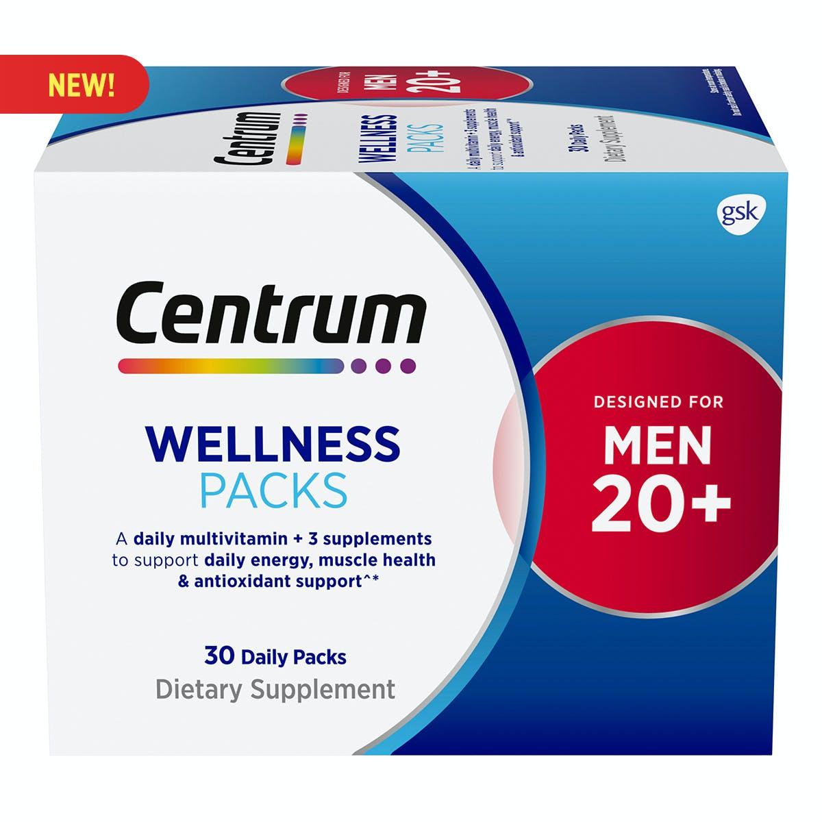 Centrum Daily Vitamin Packs Men 20+