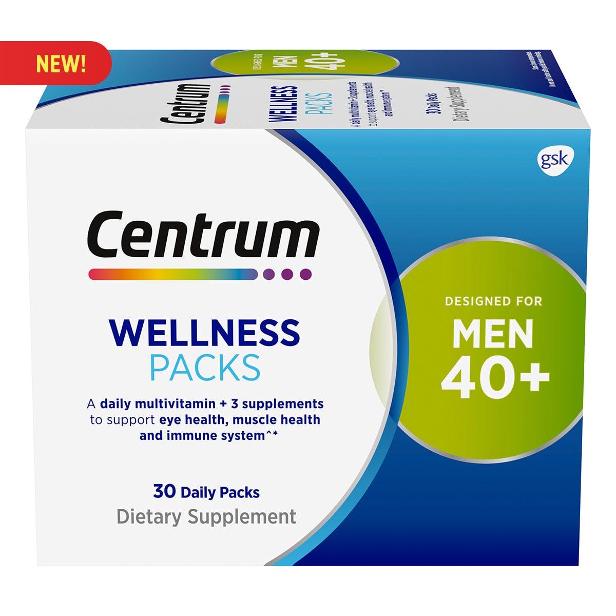 Centrum Daily Vitamin Packs Men 40+