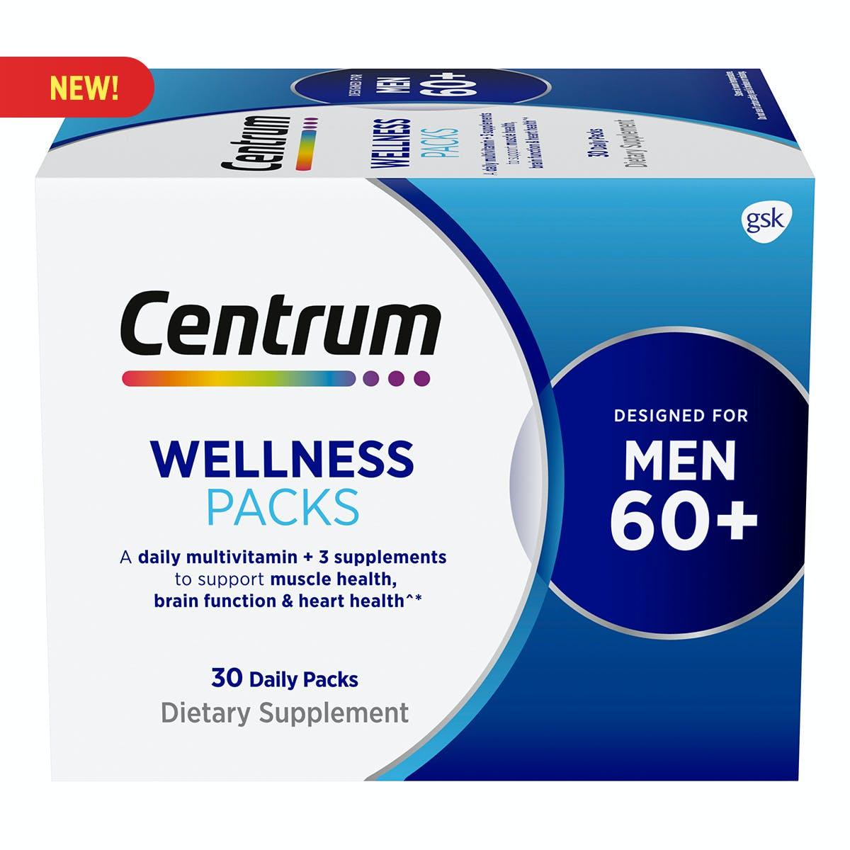 Centrum Daily Vitamin Packs Men 60+