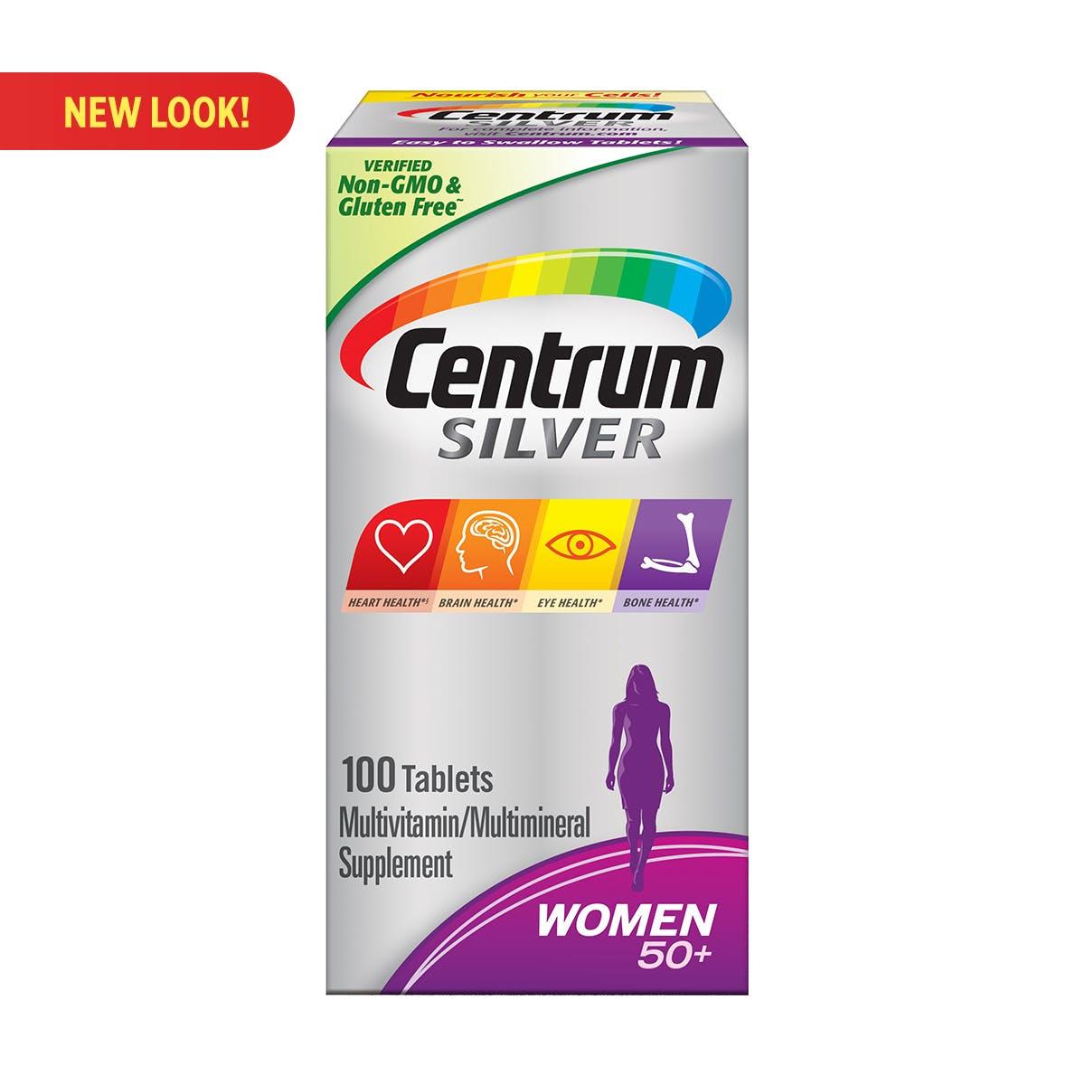 Box of Centrum Silver Womens multivitamins