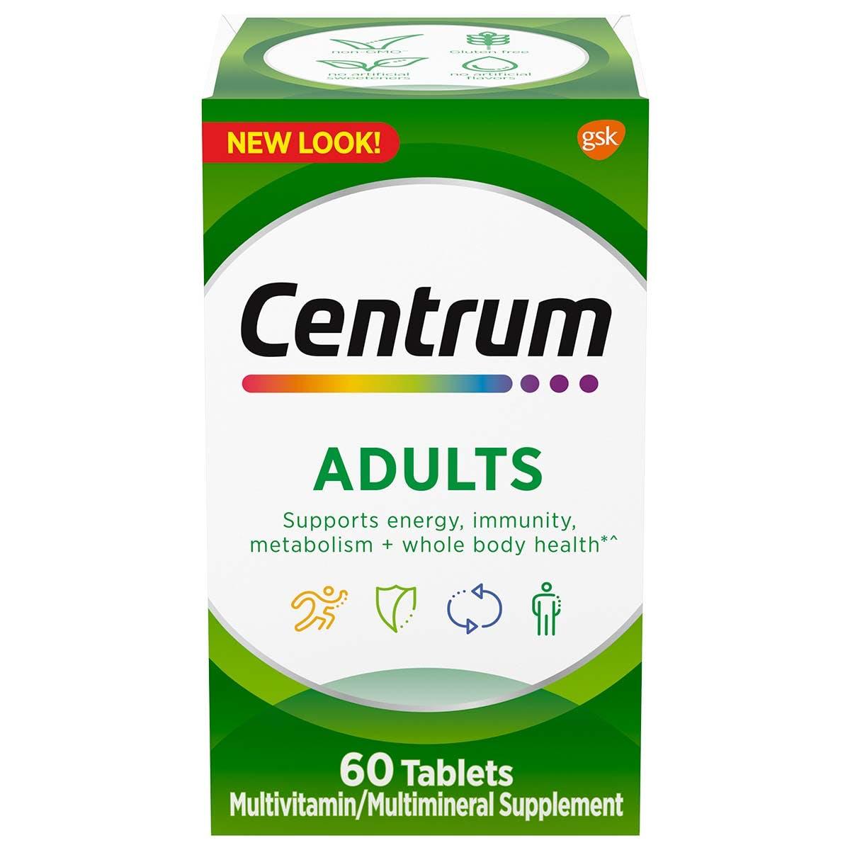 Box of Centrum Adults multivitamins