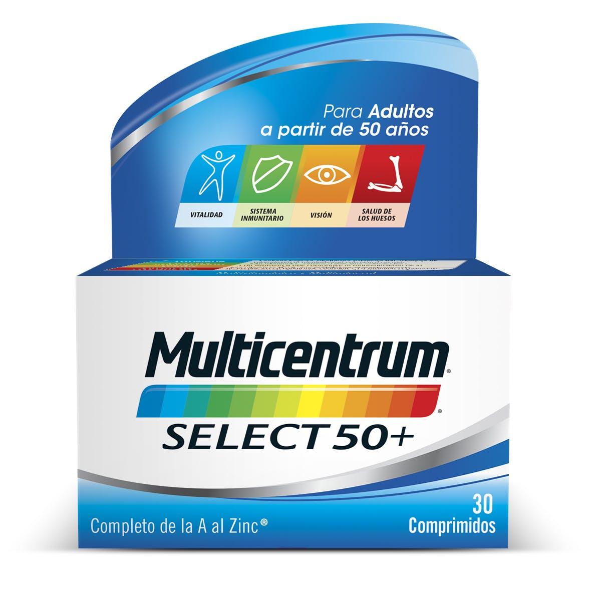 : Bote de multivitaminas 50+ Adultos