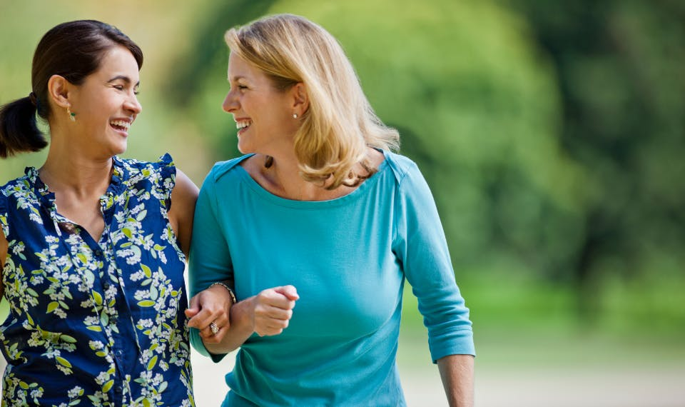 woman getting closer to others