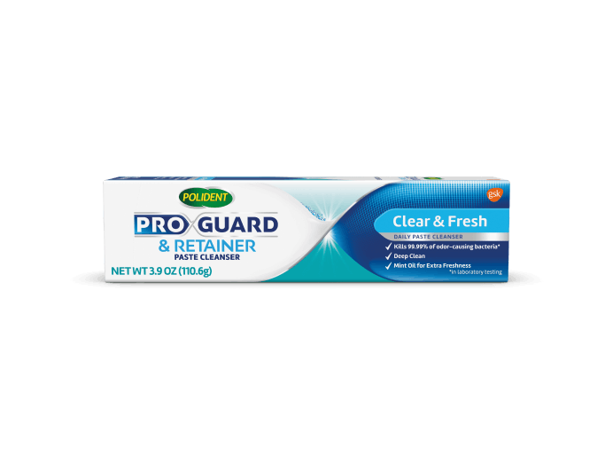 ProGuard & Retainer clear and fresh pack shot