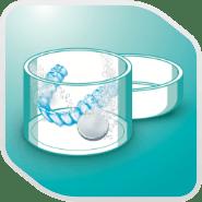 Denture care step icon