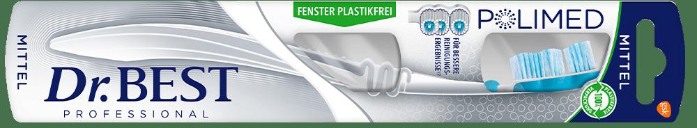 Packung der Dr.BEST Polimed Zahnbürste