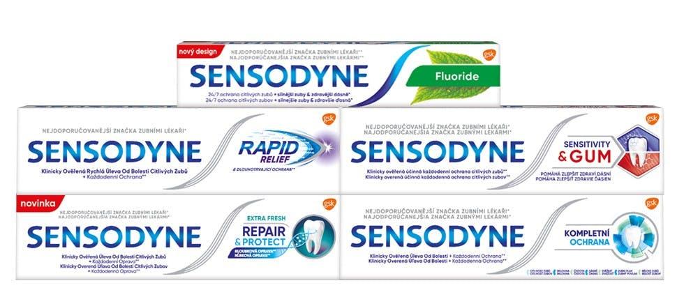 Produkty značky Sensodyne