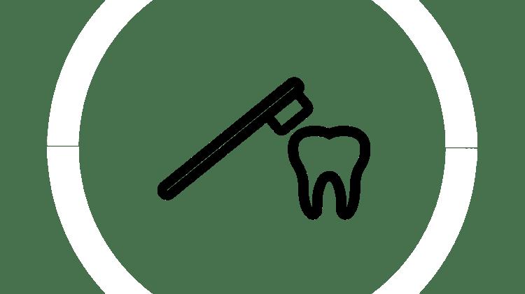 Symbol Zahnschmelzabbau