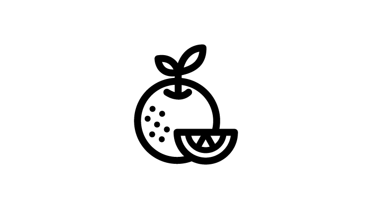 Symbol Orangenstück