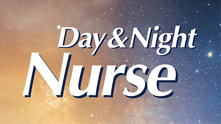 Nurses logo with day and night background