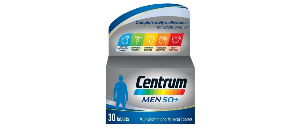 Image of Centrum men 50+ multivitamin pack