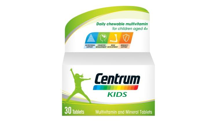 Centrum multivitamin range for kids