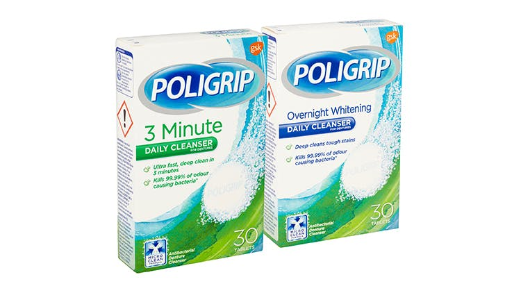 Poligrip cleansers
