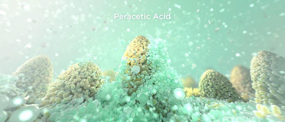 Screenshot from denture cleanser MOA video