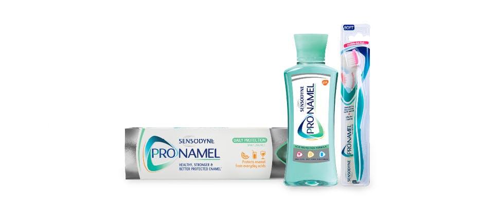 Sensodyne Pronamel Range Packshot