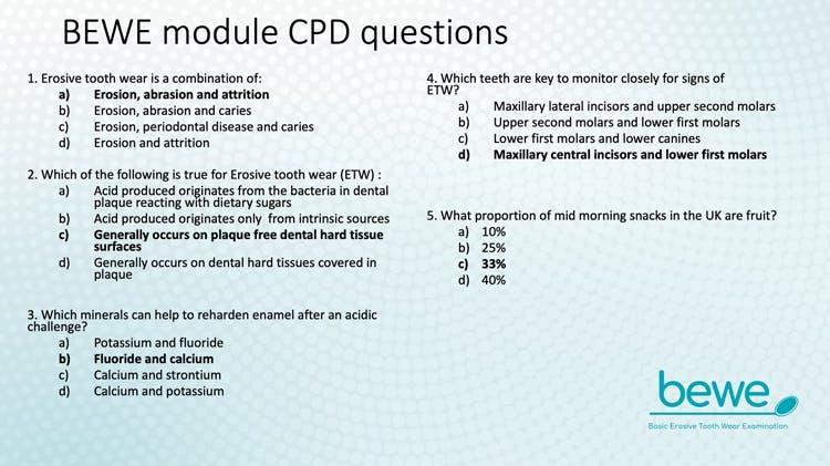 BEWE module CPD Questions