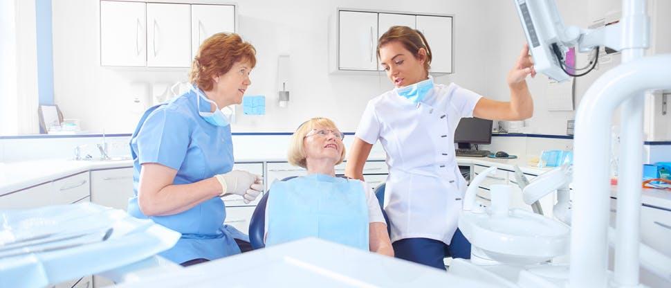 Dental professional team