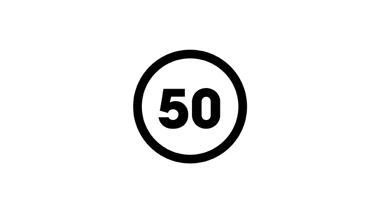 50-years icon