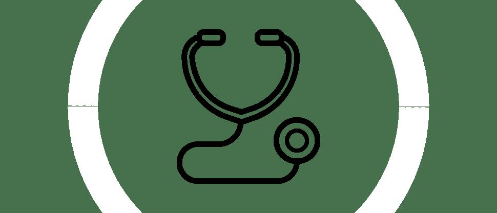 icon of doctors stethoscope