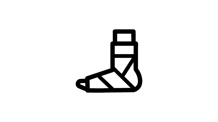 Sprains and strains icon