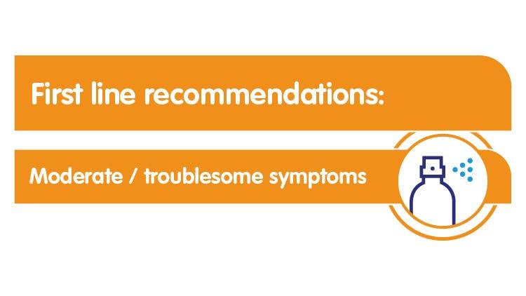 Moderate/troublesome symptoms
