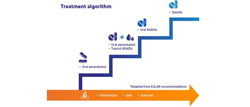 Osteoarthritis treatment algorithm14–16