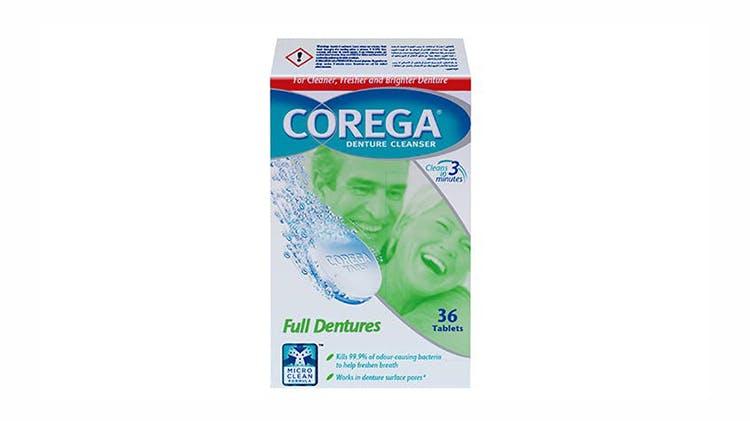 Corega cleanser full Dentures