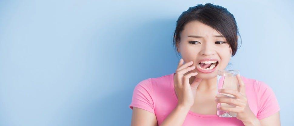 Women with sensitive teeth