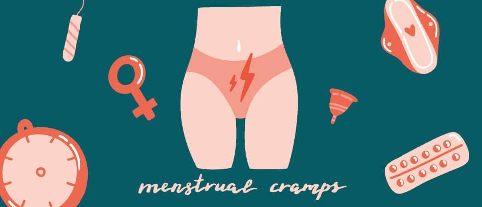 Cartoon graphic of menstrual pain