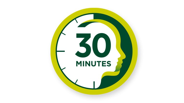 Icon of 30 minute clock