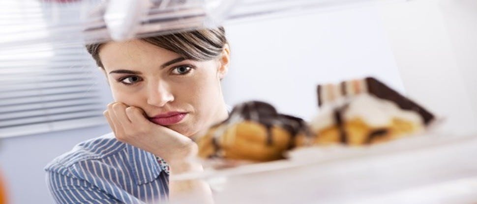 Woman craving food