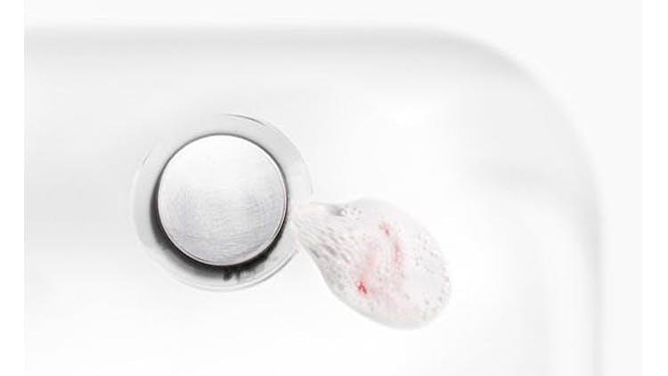 Blood in sink drain after brushing teeth
