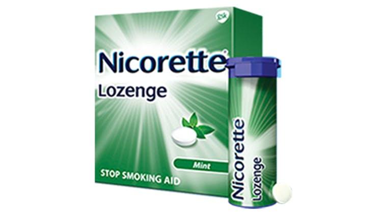 Nicorette Lozenge package