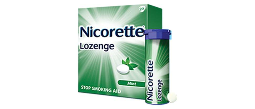 Nicorette Lozenges package