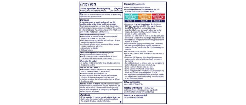 NicoDerm CQ Drug Facts