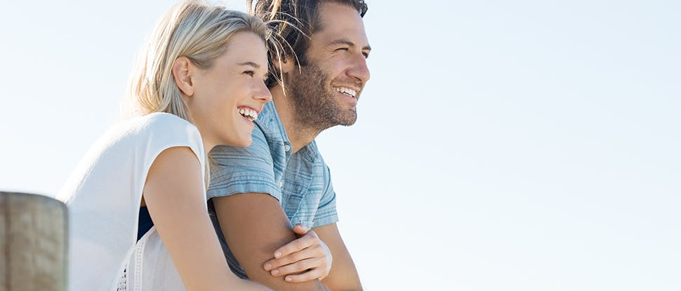 Couple smiling 3