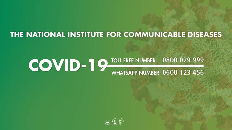 NICD Covid-19 guidance graphic