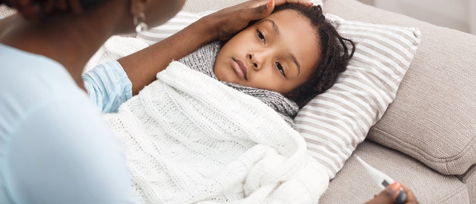 Child with fever