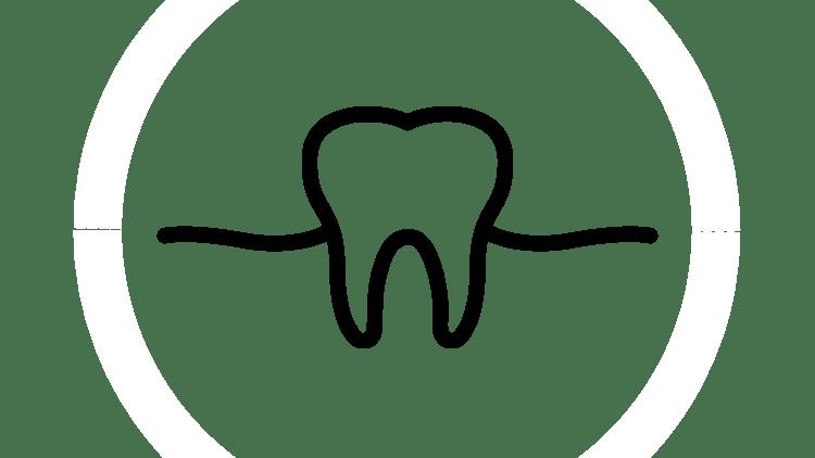 Icono de diente y encía
