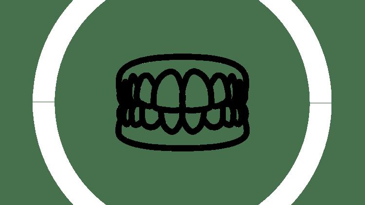 Icône de soins des prothèses dentaires
