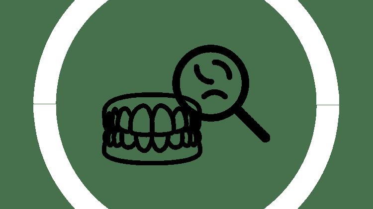 Nourriture coincée dans les dents